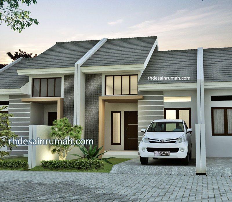 Desain Rumah Abu-Abu Satu Lantai Minimalis