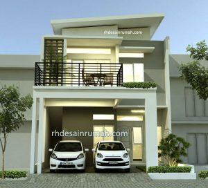 Desain Rumah 2 Lantai Elegan Minimalis di Jakarta