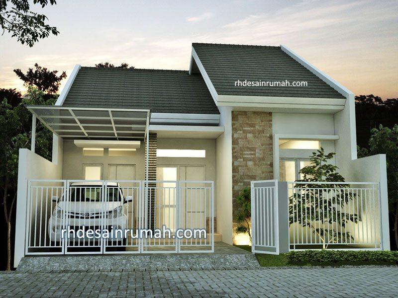 Desain Tampak Depan Rumah Minimalis Lebar 7 Meter - RHDesainRumah