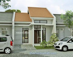 Desain Rumah Sederhana 6×12 1 Lantai Atap Pelana Bertingkat