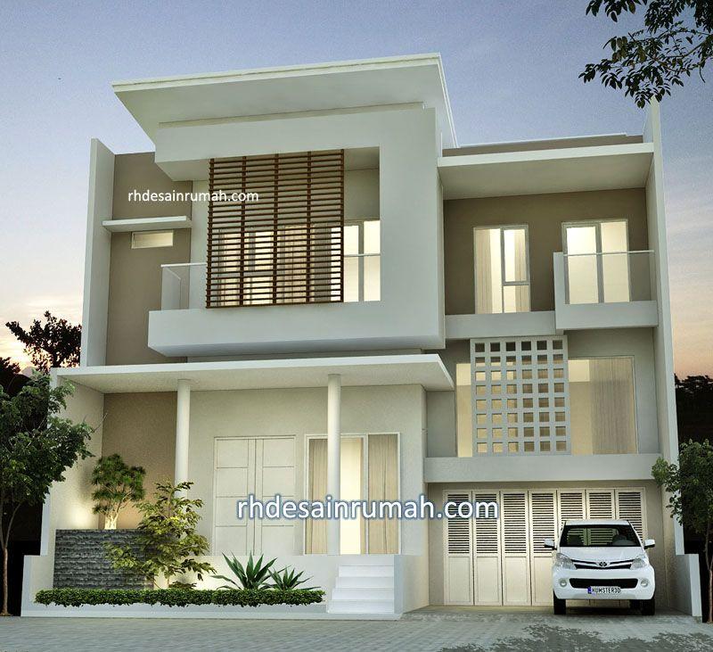 Desain Tampak Depan Rumah Split Level Mewah Elegan