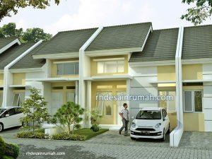Desain Rumah Type 45 Aksen Putih Krem