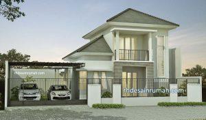 Desain Rumah Megah di Tanah 2 Kavling