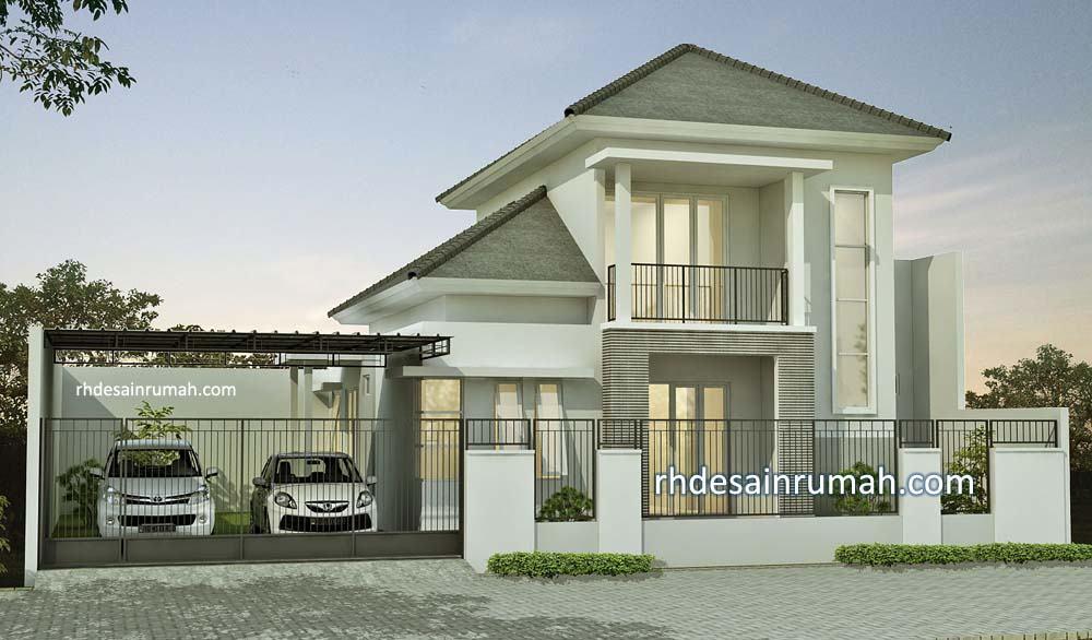 desain rumah di tanah 2 kavling