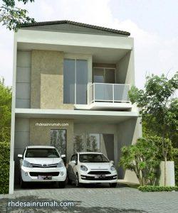 Desain Rumah Tingkat Hiasan Granit Warna Krem