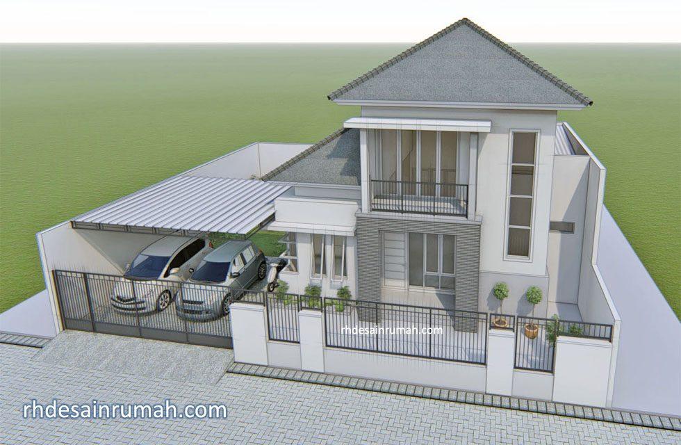 rumah mewah minimalis dengan kanopi