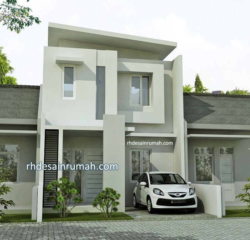 Rumah Lebar 6 meter Nuansa Putih 2 Lantai