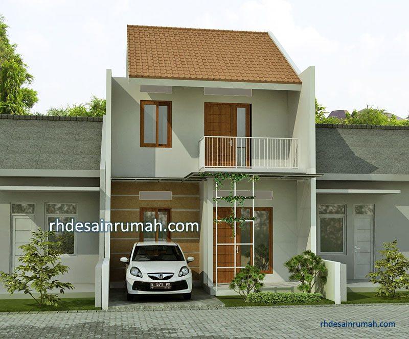 Desain Rumah Sederhana 2 Lantai Atap Pelana