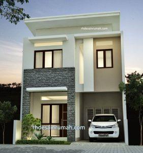 Rumah Tingkat Gaya Modern Lebar 6 Meter