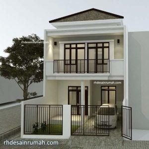 Desain Rumah 6×20 meter 2 Lantai Minimalis