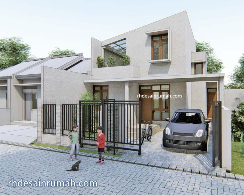desain rumah 8x15 sederhana modern