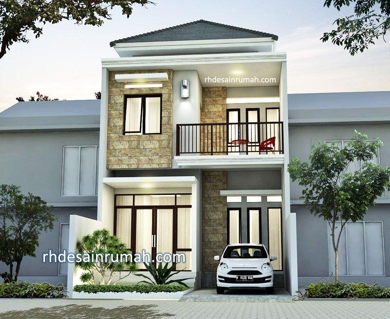 Desain Rumah Minimalis 6x12 Tampak Depan Contoh Fasade