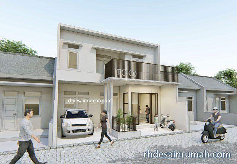 Desain Rumah Minimalis Ukuran 7x12 Meter  desain rumah dengan toko di tanah lebar 8 meter