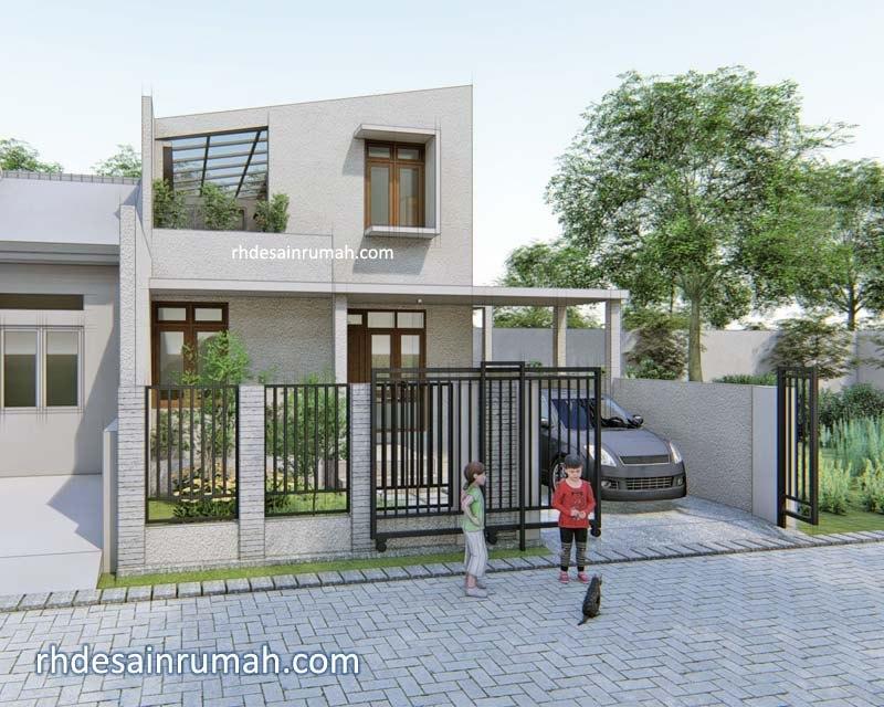 Desain Rumah Minimalis Ukuran 7x12 Meter  desain rumah sederhana 8x12 minimalis modern
