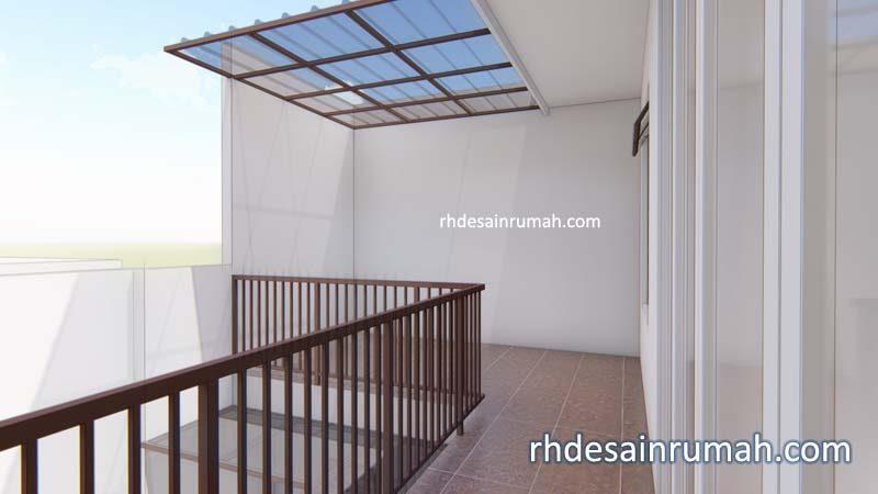 ruang jemuran dengan kanopi di belakang lantai2