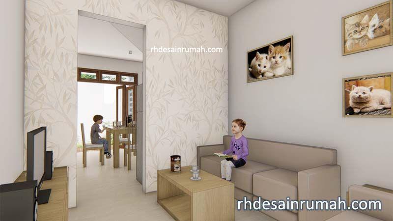 ruang tamu dan ruang tv simple