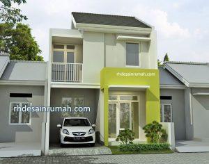 Desain Rumah 2 Lantai Sederhana Modern di Palembang