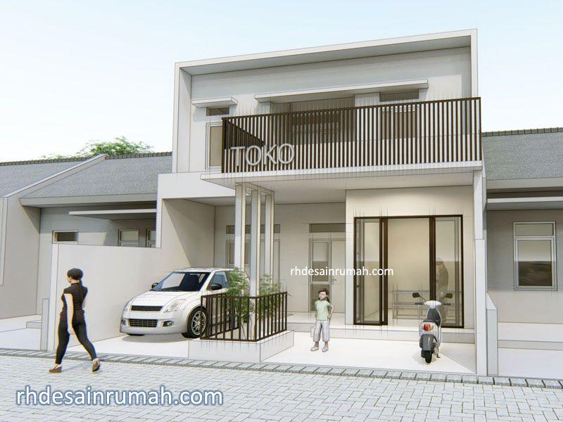 Desain Rumah Dengan Toko Di Tanah Lebar 8 Meter Rhdesainrumah