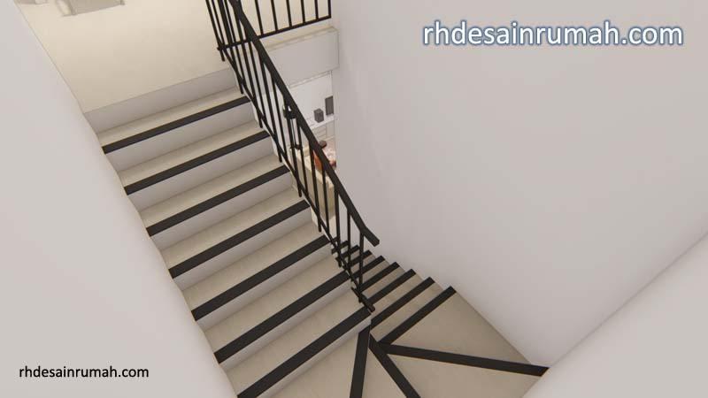 tangga rumah railing besi hollow