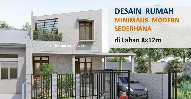 Desain Rumah Sederhana 8×12, Minimalis Modern