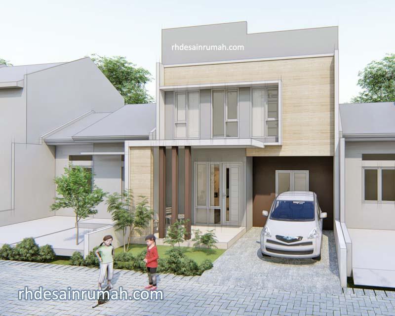 Desain Rumah Minimalis Modern 7x12 2 Lantai Contoh Gambar