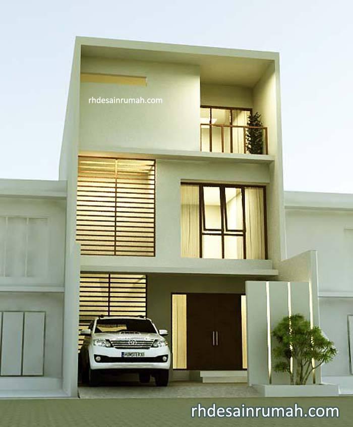 Desain Rumah Modern Simple 3 Lantai