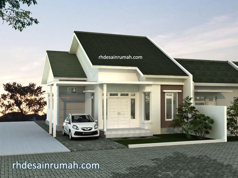 rumah putih minimalis elegan