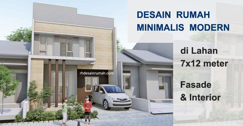 Desain Rumah Minimalis Modern 7×12 2 Lantai
