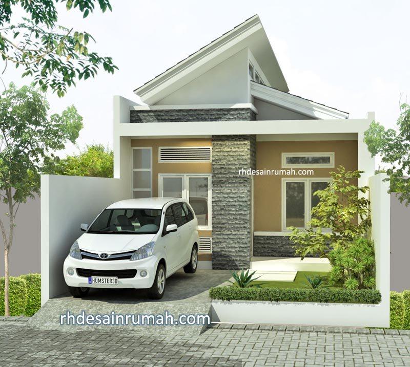 Desain Rumah Sederhana Minimalis 6×12 Atap Miring