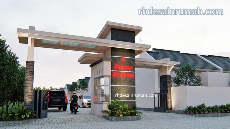 desain gate perumahan modern elegan kekinian