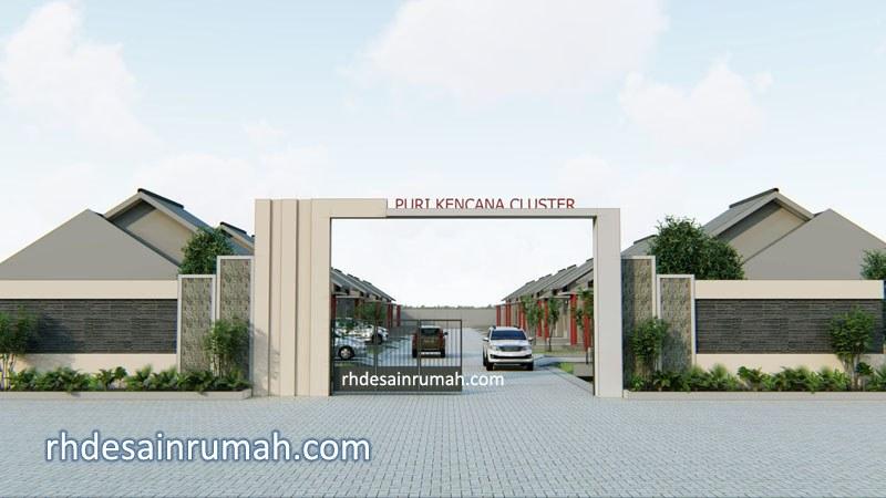 desain gate perumahan sederhana di Kalimantan Timur