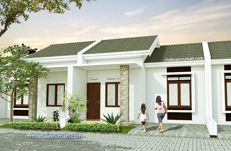 Desain Rumah Cluster Elegan Putih Cerah