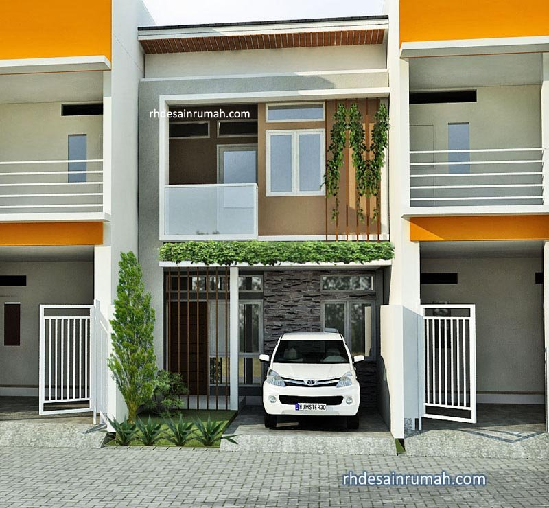 desain rumah keren hiasan tanaman rambat