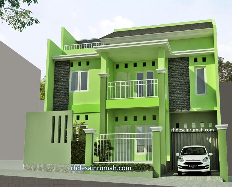 Desain Rumah Nuansa Hijau di Semarang
