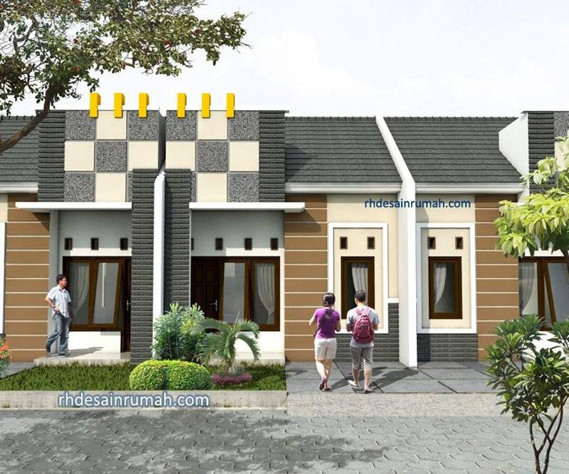 Desain Rumah Type 45 di lahan 5x12 meter