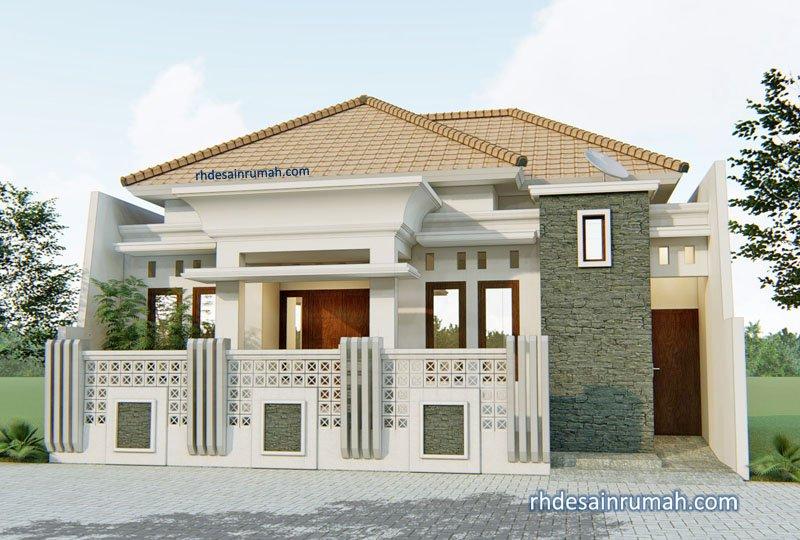 Fasade Rumah Dengan Mainan Rooster di Demak