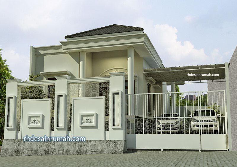 Rumah Klasik Mediterania Putih Megah di Jakarta
