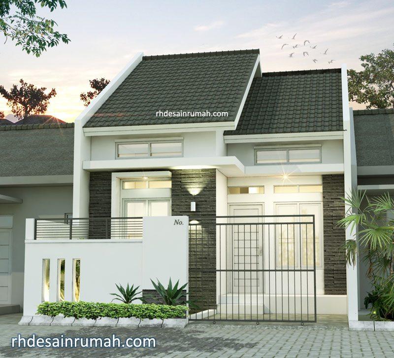 Rumah Mungil Cluster dengan Desain Pagar Minimalis