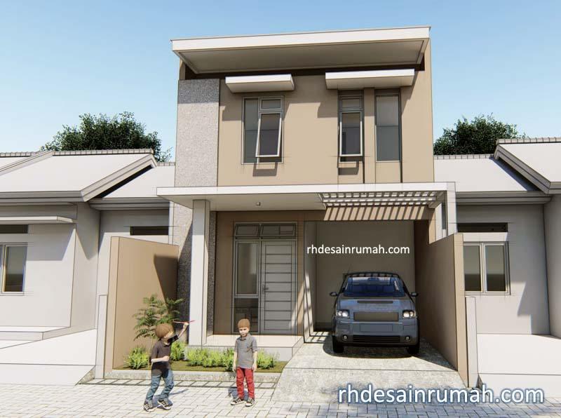Desain Rumah Modern Sederhana 6×12