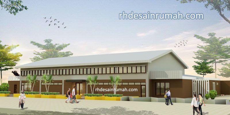 Desain Kantor Minimalis di lahan 20x30 meter