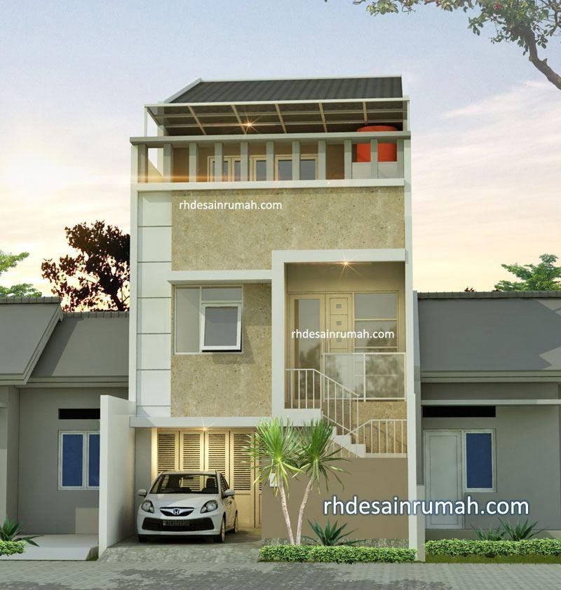 Desain Rumah 3 lantai lebar 6m di Jakarta
