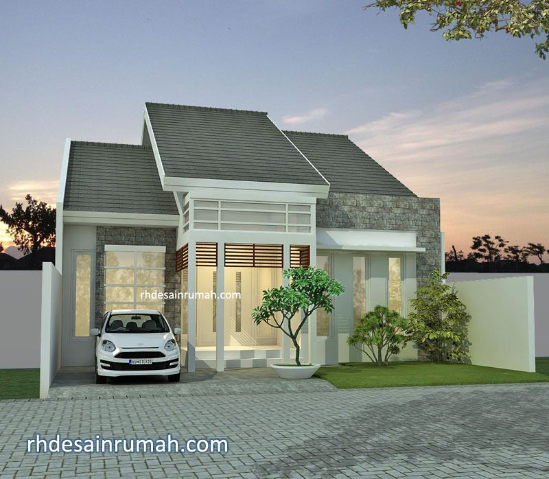 Desain Rumah Lebar 10m 1 lantai di Surabaya