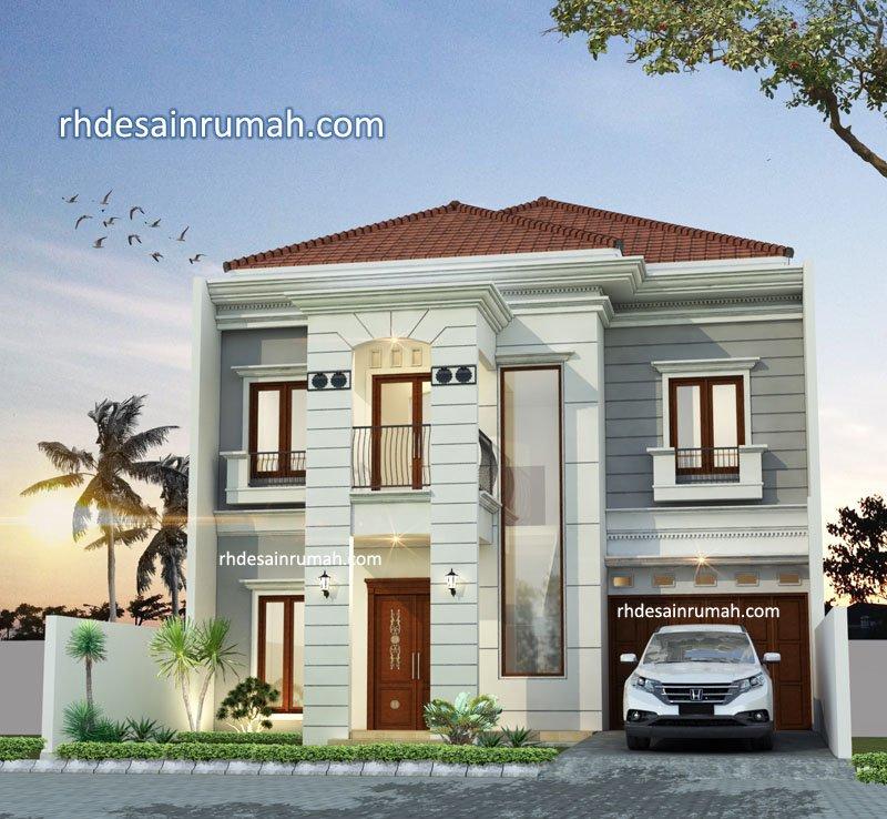 Desain Rumah mewah Mediterania di lahan 10x15 meter