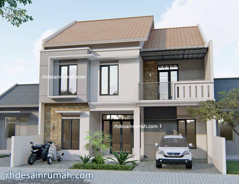Desain Rumah minimalis lebar 9 meter di Bandung xxx