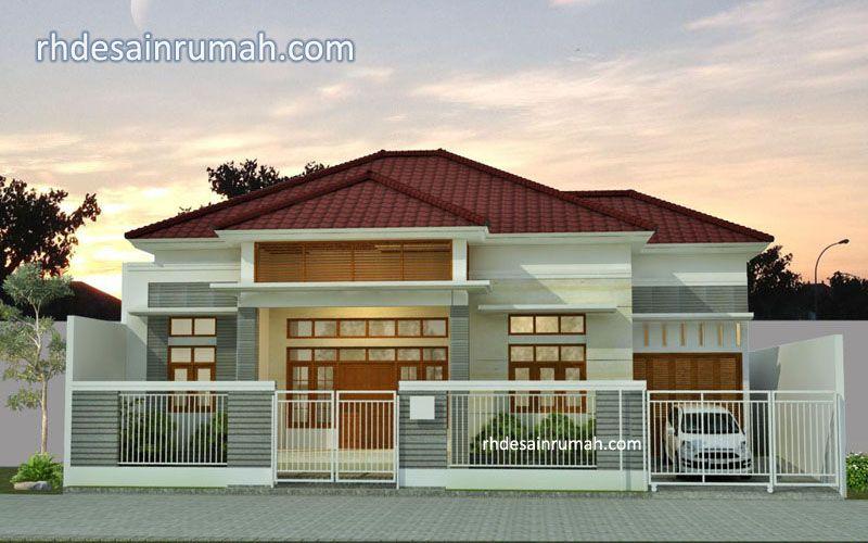 Desain rumah memanjang 15 meter elegan di Semarang