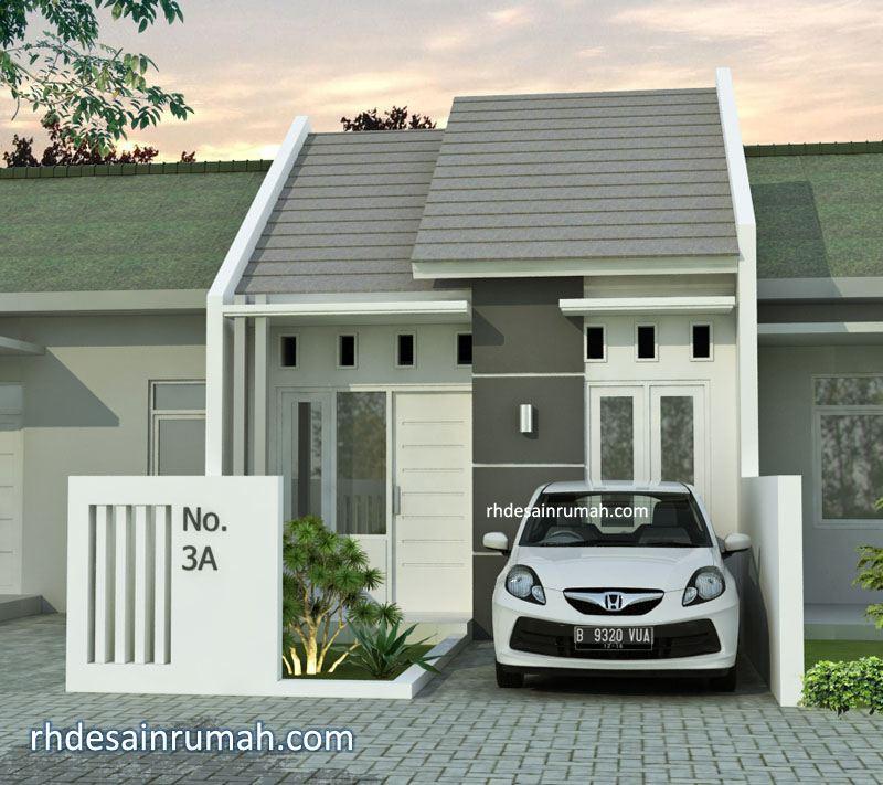 Desain rumah mungil aksen abu-abu di Jogja