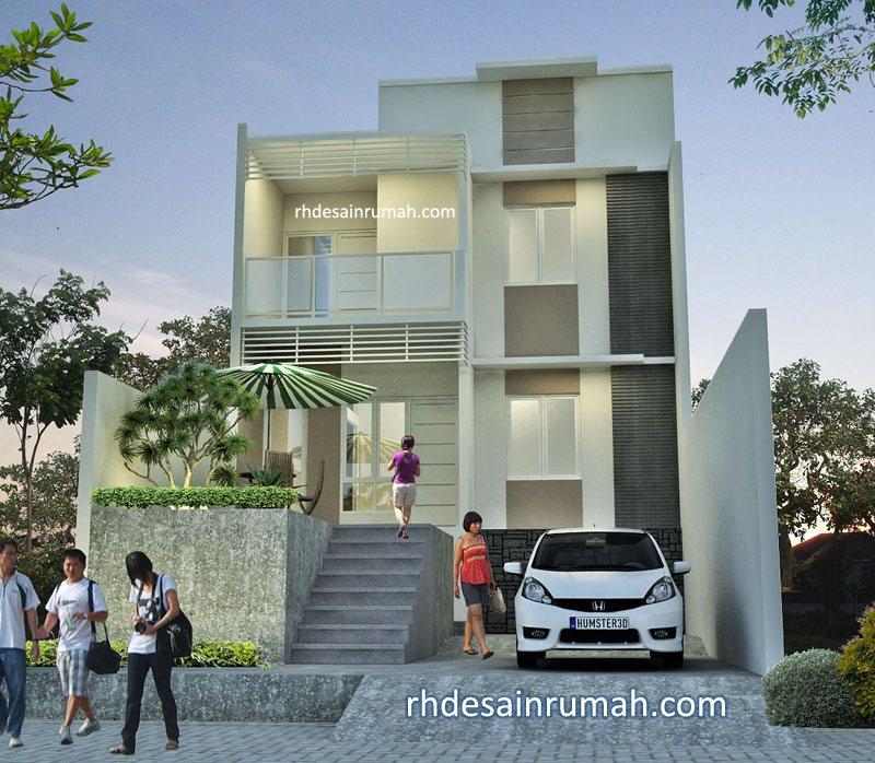 Desain rumah putih batu alam di unnes Semarang