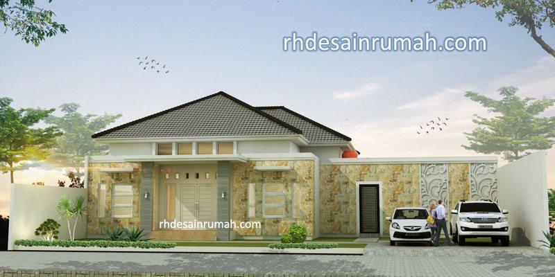 Fasade Rumah lebar 18 meter di Surabaya