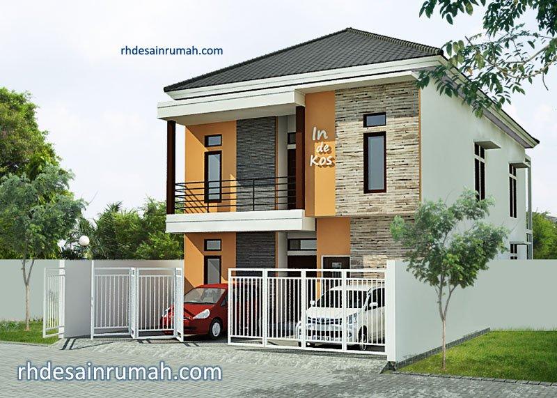Fasade Rumah kos 2 lantai modern