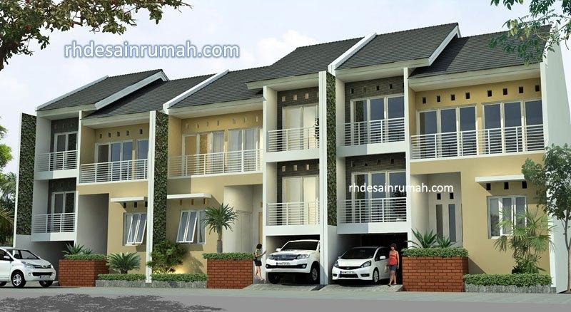 Fasade perumahan lebar 9 meter 2 lantai